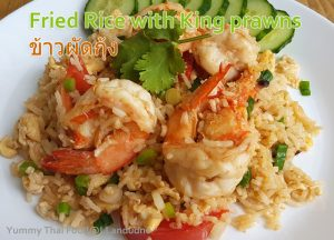 Fried Rice with King prawns